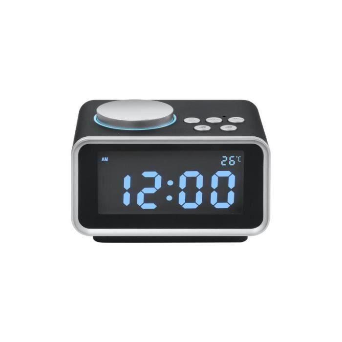 Radios D'alarme Fm Thermomètre À Double Usage Usb Aux Connexion Fonction Mp3 Mp4