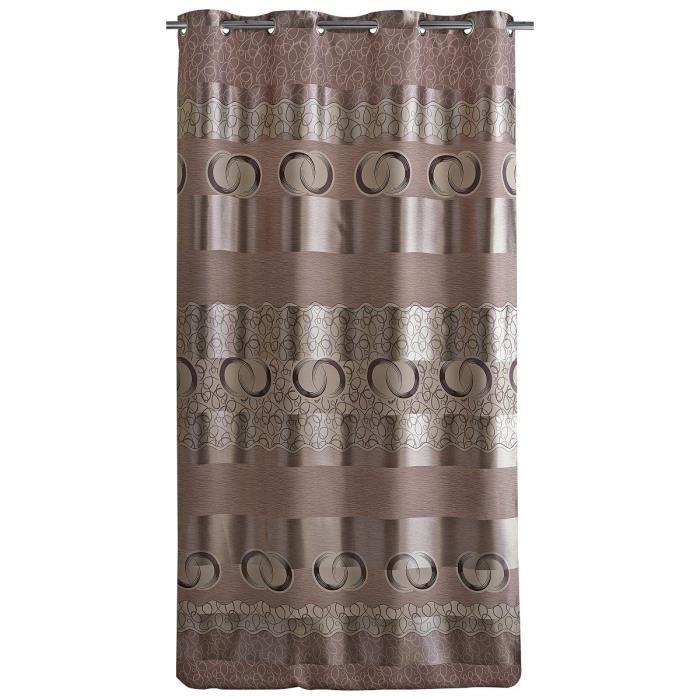 Double rideau occultant ray 140x260cm taupe achat - Double rideau occultant ...
