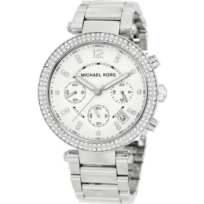 1ca6b7590b3186 MICHAEL KORS Montre bracelet Femme MK5353 - Analogique - Acier - Argent