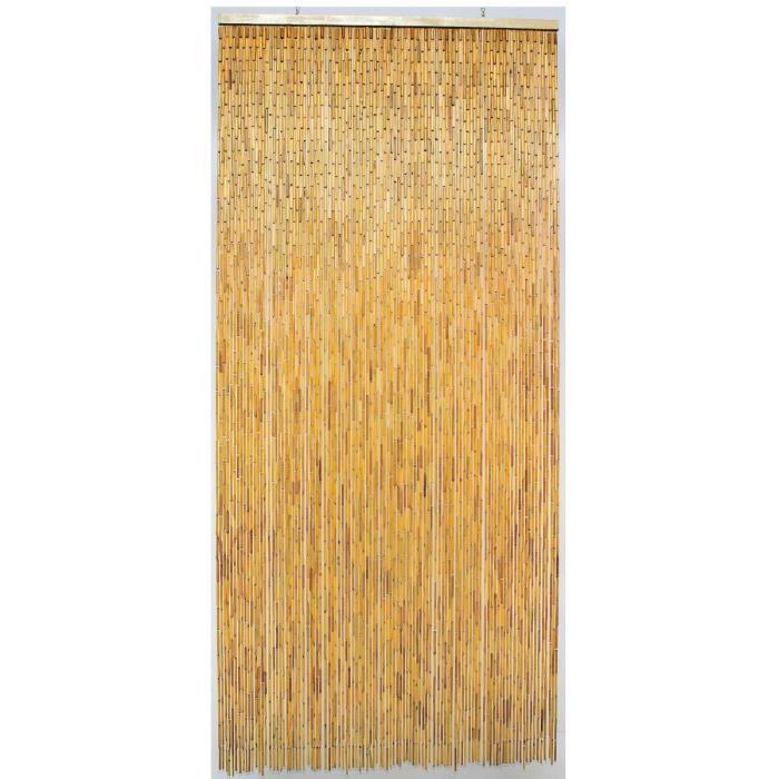 Rideau de porte Bambou Naturel Morel 100 x 220cm - Achat / Vente ...
