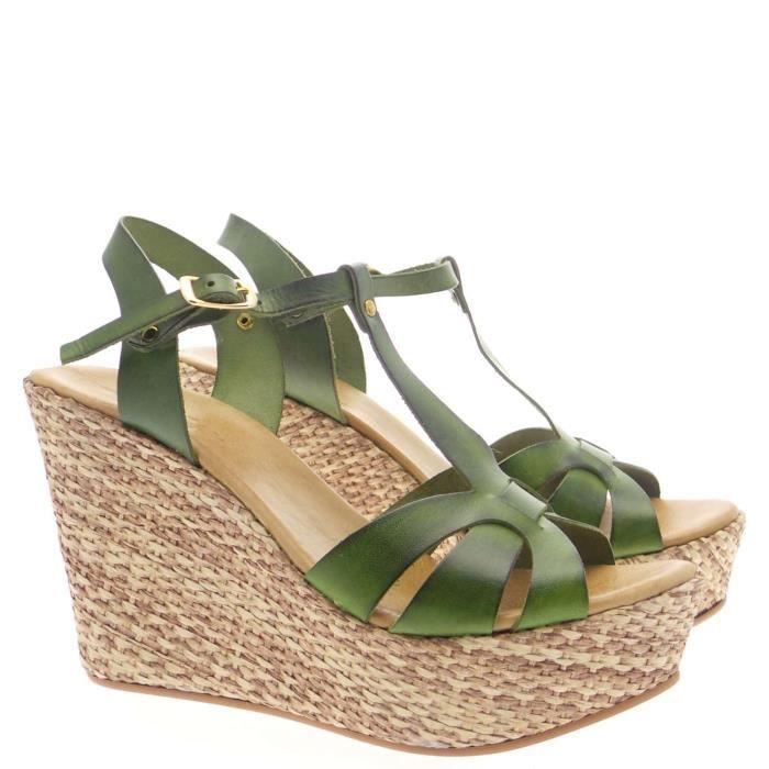 Geste' Sandal Femme Black Green