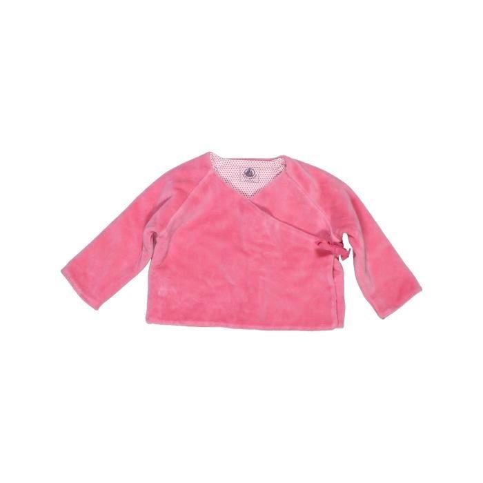 5f4816e68126f Gilet bébé fille PETIT BATEAU 6 mois rose hiver - vêtement bébé ...