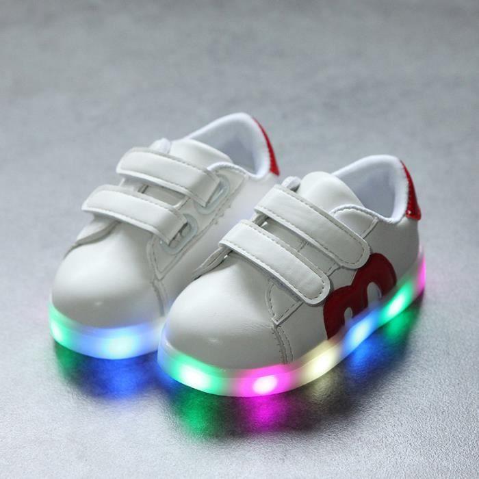 chaussures LED pour enfants les enfants ont conduit lumières baskets pour filles Garçon Bébé WPvVkwu2