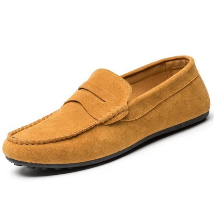 Moccasin hommes de plein air Pour randonnée agréable Chaussures Marque De Luxe doux Poids Léger Antidérapant Grande Taille POKG7w