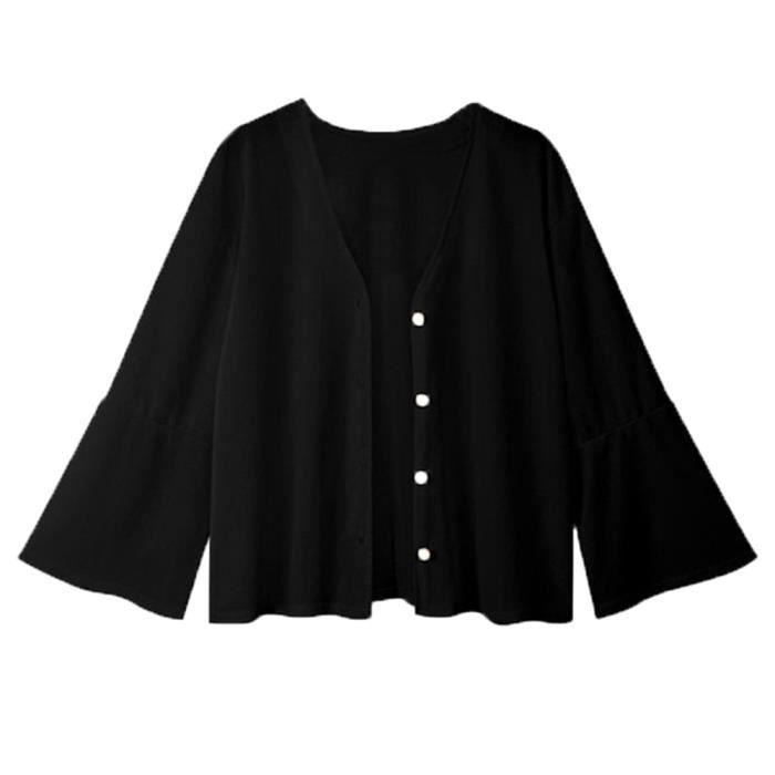 Spentoper Avant Bouton Manches Femmes Veste Manteau De Longues Cardigan Solide Casual Ouvert Blazer rwxRrCXq1