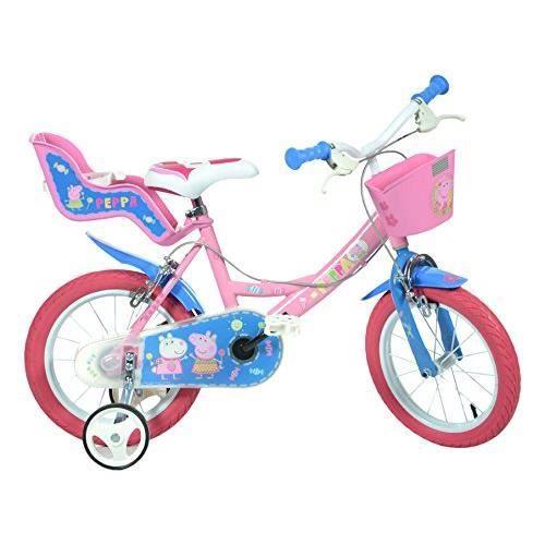VÉLO ENFANT Vélo Enfant Fille 14 Pouces Peppa Pig Freins sur l