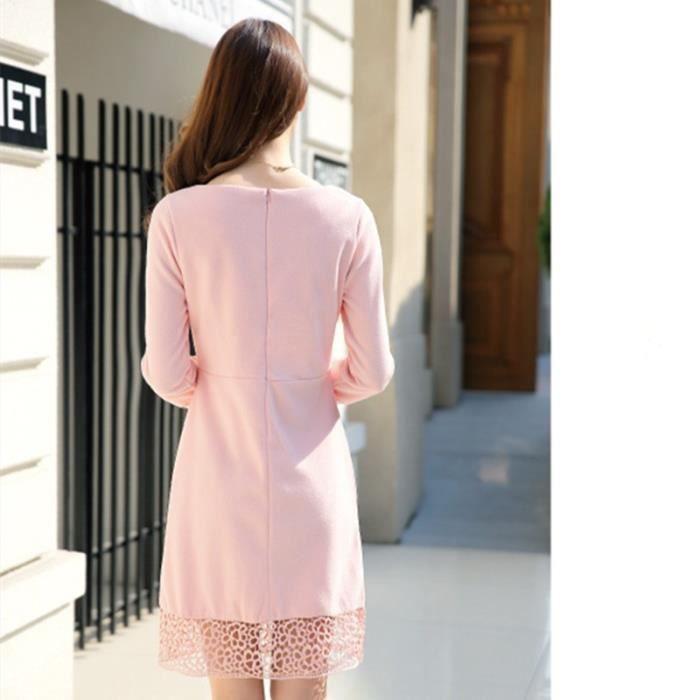 Nouveau Automne Hiver Laine Femmes Fashion Dres...