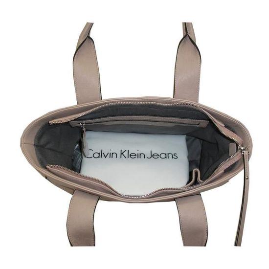 cdb65ec139 Borsa Calvin Klein maddie medium EW TOTE CK1170 women handbag shopper taupe  - Achat / Vente Borsa Calvin Klein maddie m - Cdiscount