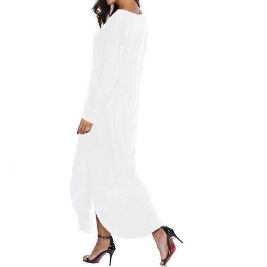 2d540e2cba92 ... soirée longues manches à femmes de blanc femmes pour pour manches à  Robe longue Robe longues