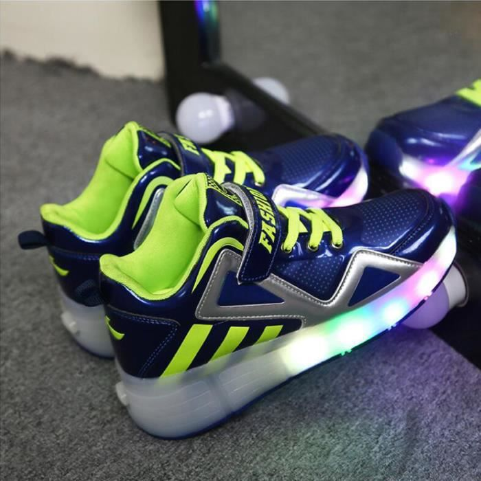Heelys enfants chaussures à roulettes garçons filles Sneakers avec roues automatique de patinage chaussure un wheel - Bleu