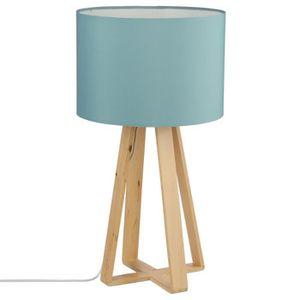 LAMPE A POSER Lampe avec pied en bois naturel - Style Nordique -