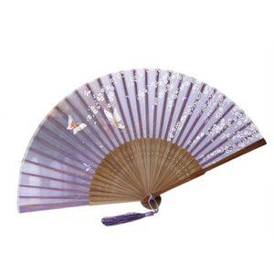 ACCESSOIRE DÉGUISEMENT eventail Japon Sakura Femme en Bambou Pliable Impr