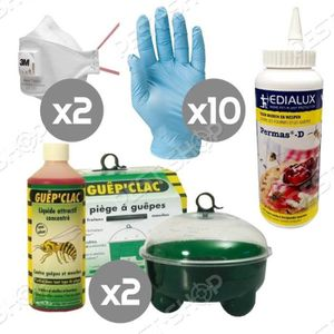 PACK ANTI-NUISIBLE Kit complet anti-guêpes et frelons