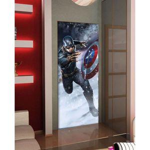 PAPIER PEINT Sticker Géant Avengers Captain America 91x211 cm p