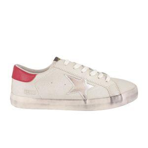 BASKET LE TEMPS DES CERISES Chaussure City Blanc/Rouge Fe