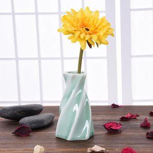 VASE - SOLIFLORE Cyan Clair Petit Porcelaine Vase Décoration Du Dom