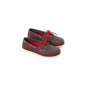 NAUTICAL COLOR anthracite-rouge - Chaussures bateau homme SLAMAnthracite-Rouge AGONQlH