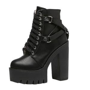 BOTTINE Femme Bottine Boots Noir de Talon Haut