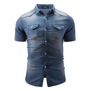taille 40 6a605 3fd71 Chemise homme manche courte slim
