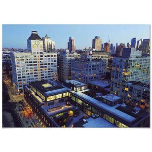 TABLEAU - TOILE Panorama® Affiche Vue Aérienne les Édifices NY 70