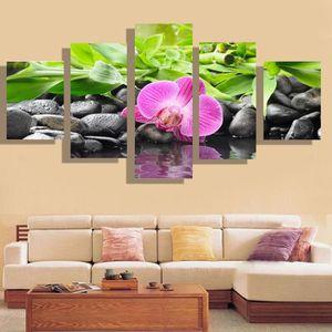 TABLEAU - TOILE TEMPSA 5pcs Tableau Peinture à Huile Floral Image