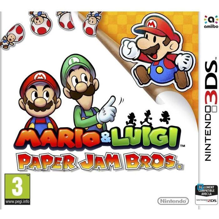 JEU 3DS Mario & Luigi Paper Jam Bros Jeu 3DS