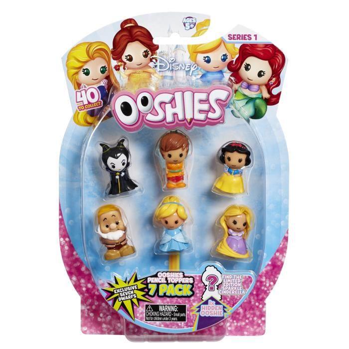 OOSHIES - DISNEY PRINCESSES Ooshies x7 Mix 1 - Fille - A partir de 5 ans - Livré à l'unitéFIGURINE MINIATURE - PERSONNAGE MINIATURE
