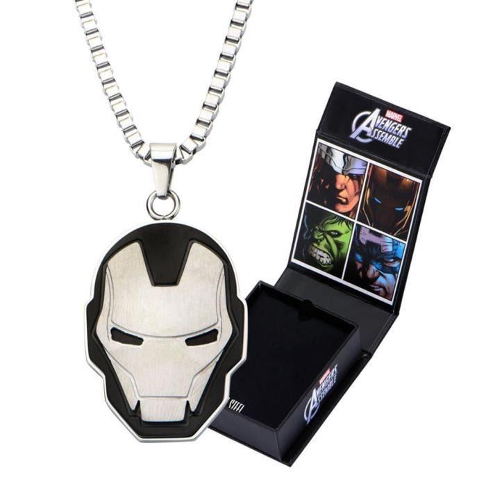 Collier de finition découpé en acier inoxydable Marvel Avengers officiellement homologué