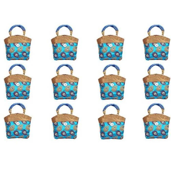 Mini sac à main de femmes 10 * 10 pouces (ciel bleu) Ensemble de 12 pièces L6P4Z