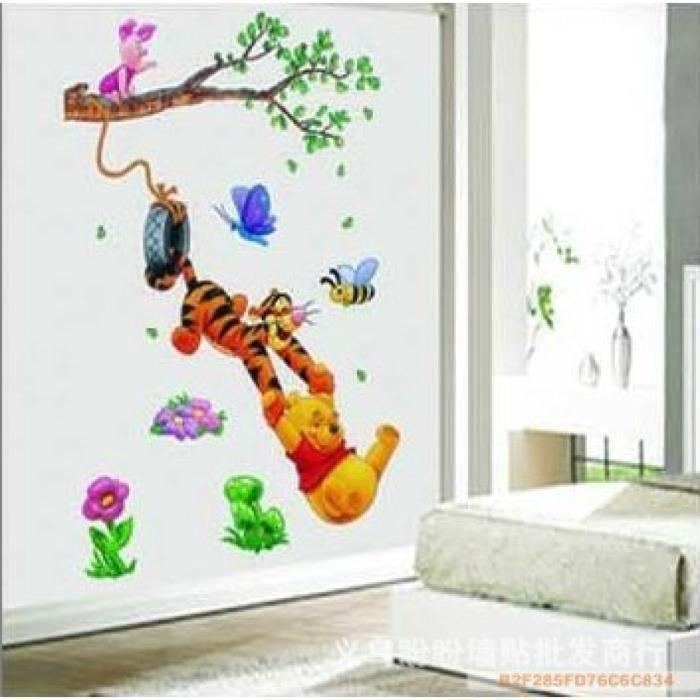 Winnie l 39 ourson arbre dessins anim s animal mur autocollants pour enfants chambres maison decor - Chambre winnie lourson cdiscount ...