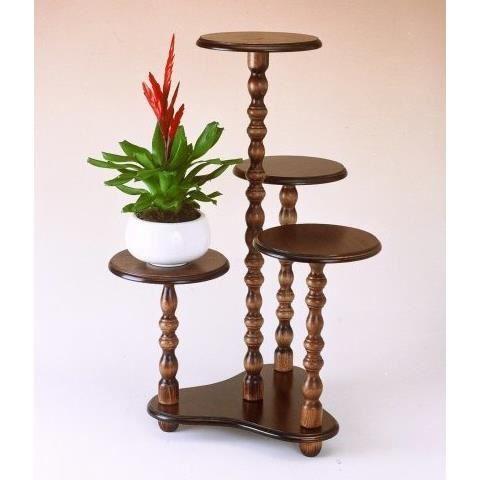 Porte plantes 4 colonnes achat vente meuble support for Meuble porte plante bois
