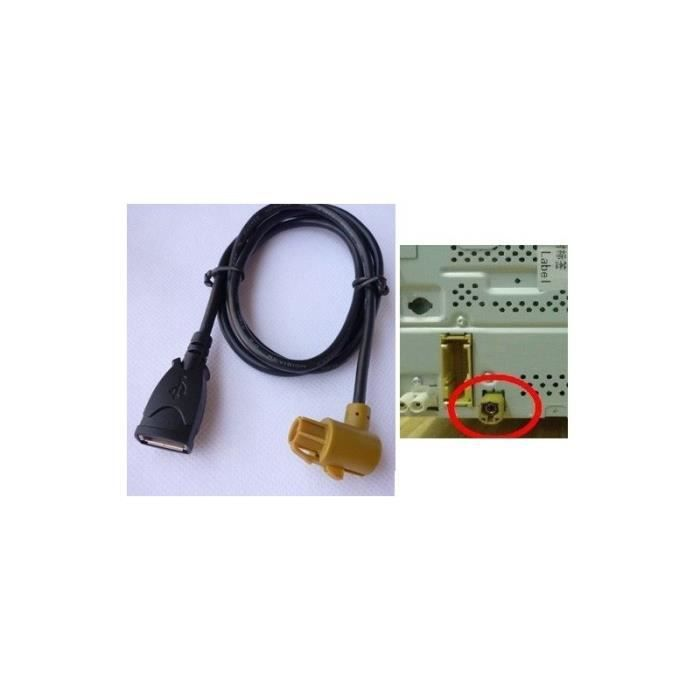 usb harness cable adapter for vw radio rcd510 rns510 polo. Black Bedroom Furniture Sets. Home Design Ideas