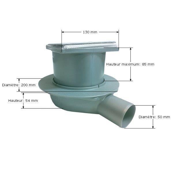 siphon de sol pour receveur a carreler ultra plat achat vente receveur de douche siphon de. Black Bedroom Furniture Sets. Home Design Ideas