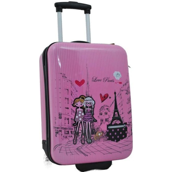 Valise cabine 2 roues fille madisson rose rose achat - Dessin de valise ...