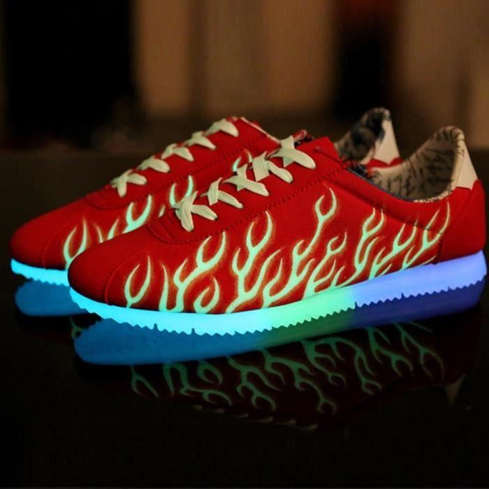 Couples LED émettant Chaussures Fluorescence ba... 9uQropMn