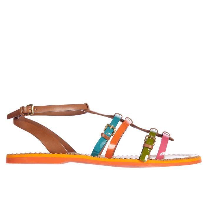 Sandales femme en cuirmulticolor Car Shoe