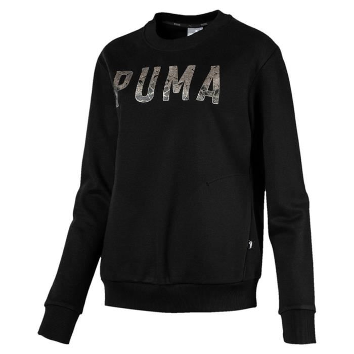 Femme Fl Athletic Crew Puma Noir Sweat 851867 Shirt FX7Aqqxw