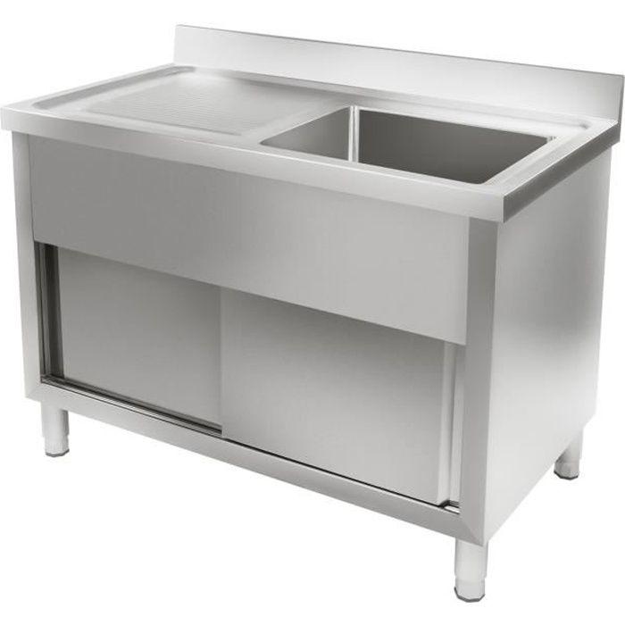 meuble sous evier avec evier 120cm - achat / vente meuble sous