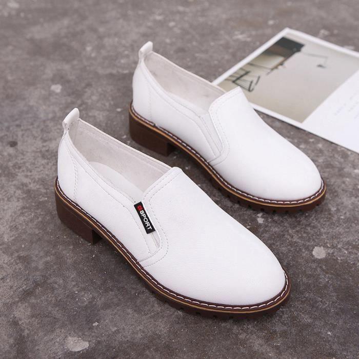 Femme Lmh80524551wh35 Cheville Bottes En Pour Court Lafayestore®chaussures Cuir Mode Casual Blanc Chaussures Plat Dames SwH7xqR7v