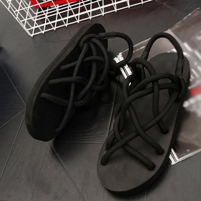 Nouveau ressort plat antidérapants Chaussures de plage pour hommes
