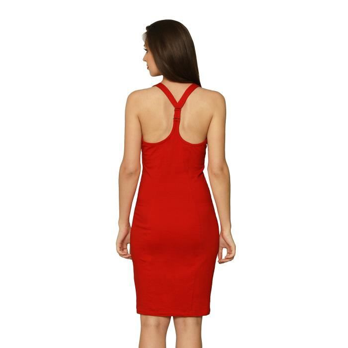 Rouge Robe moulante pour femmes RONWR Taille-32