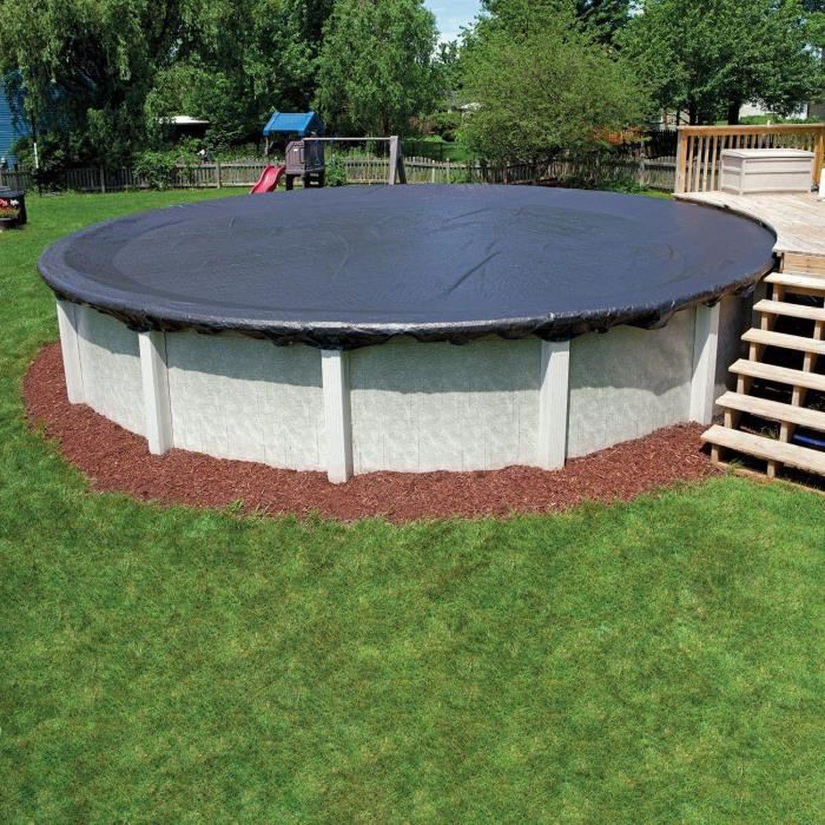 bache piscine hors sol ronde ou octogonale pour bassin 5,50 m