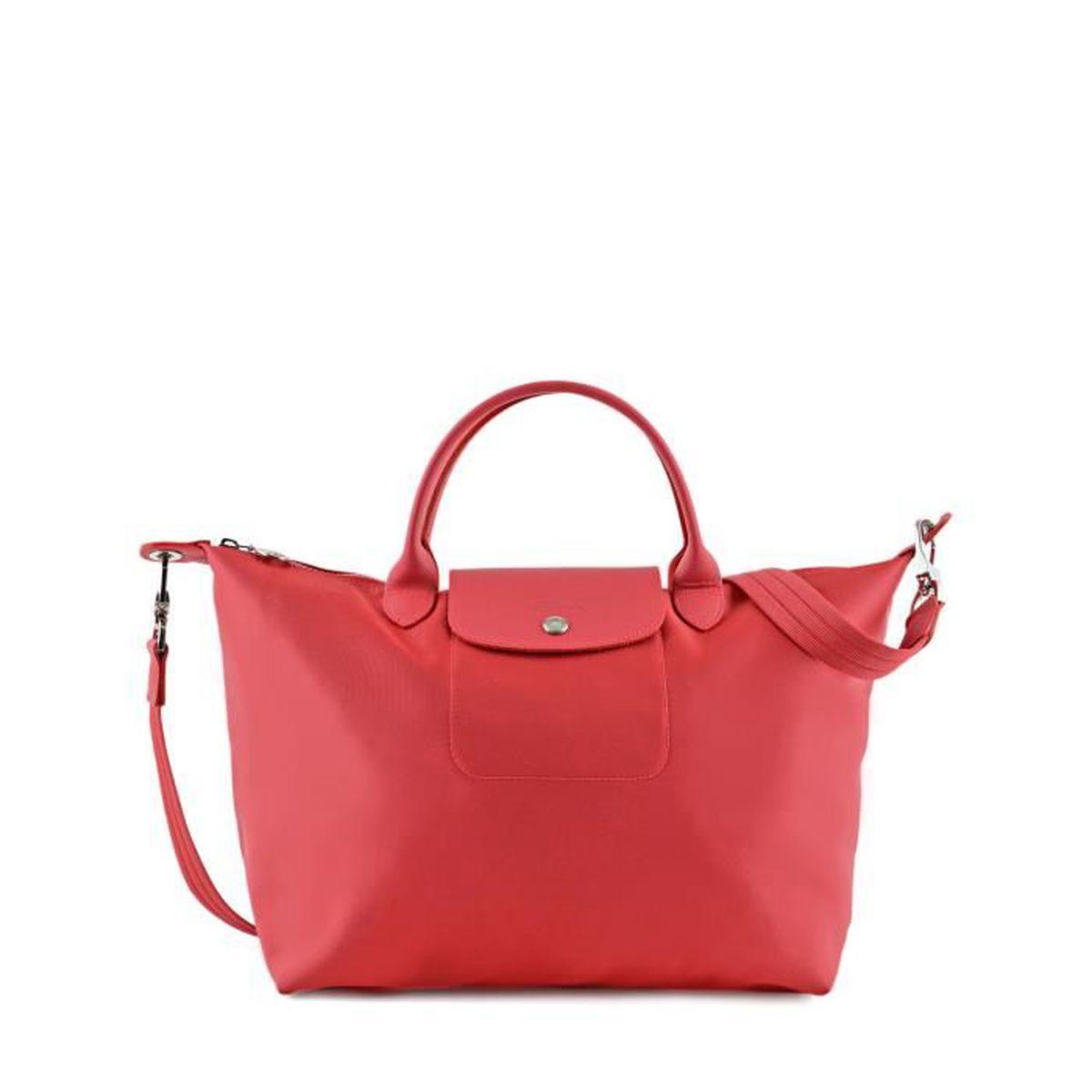 4eba5e313d6c4 LONGCHAMP - sac femme porté main et bandoulière - PIVOINE PLIAGE NEO ...