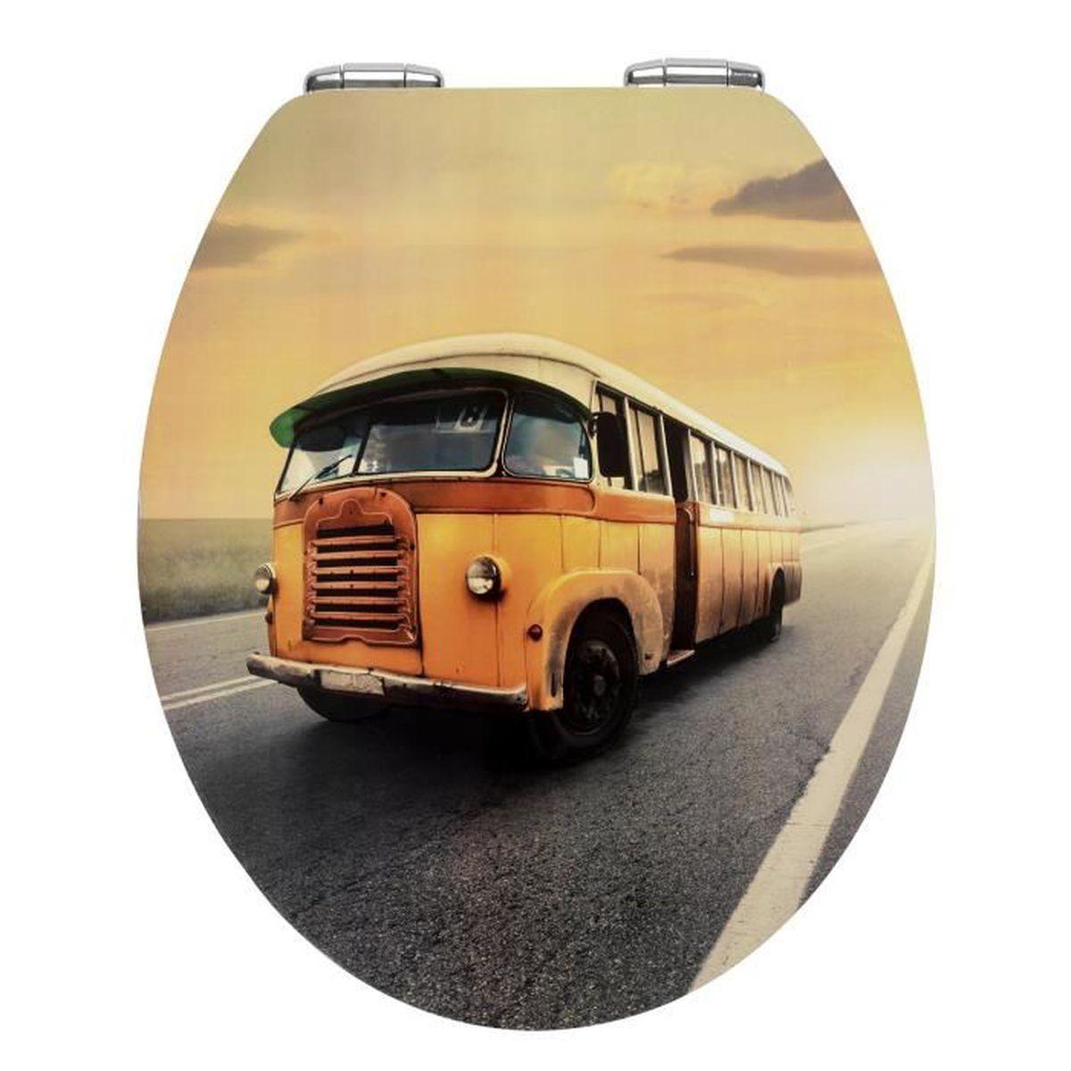 Abattant WC Vintage Bus Easy-Close - Dim : 38,8 x 44,5 cm - Achat ...