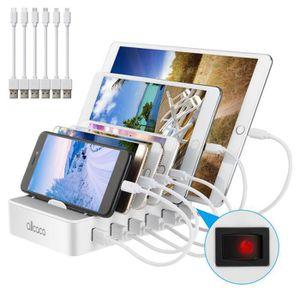 CHARGEUR TÉLÉPHONE Hub de charge intégré pour station de charge USB 6