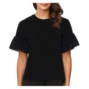 312f8fb974f CHEMISIER - BLOUSE JDY Femmes Chemise T-Shirt manches courtes volants ...