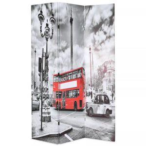 PARAVENT Cloison de séparation 120 x 180 cm Bus londonien N