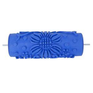 ROULEAU DE PEINTURE Longue de 15cm:Rouleau de peinture bleu d'un motif