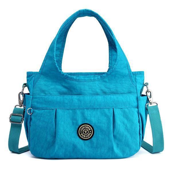 SBBKO483WomenNylonSacàbandoulièreléger à sac à main résistant à leau pour femmes Ciel Bleu