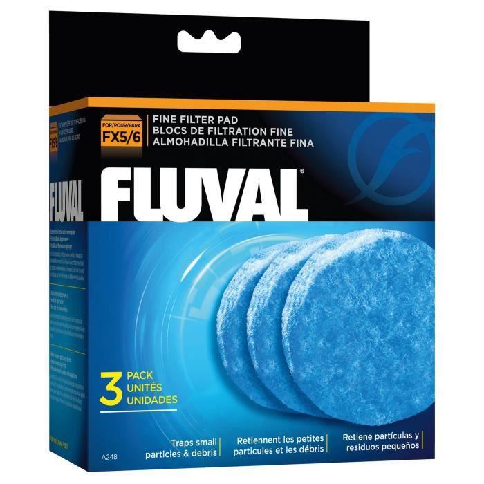 Fluval Lot De 3 Blocs Mousse Fine - Pour Filtres Extérieurs Fx5 Et Fx6